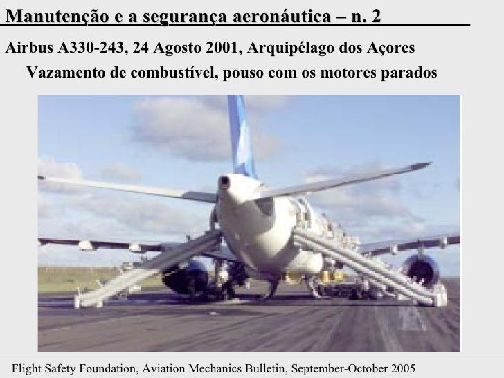 Airbus A330-243, 24 Agosto 2001, Arquipélago dos Açores Vazamento de combustível, pouso com os motores parados
