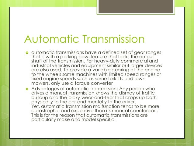 what is a manual car or automatic