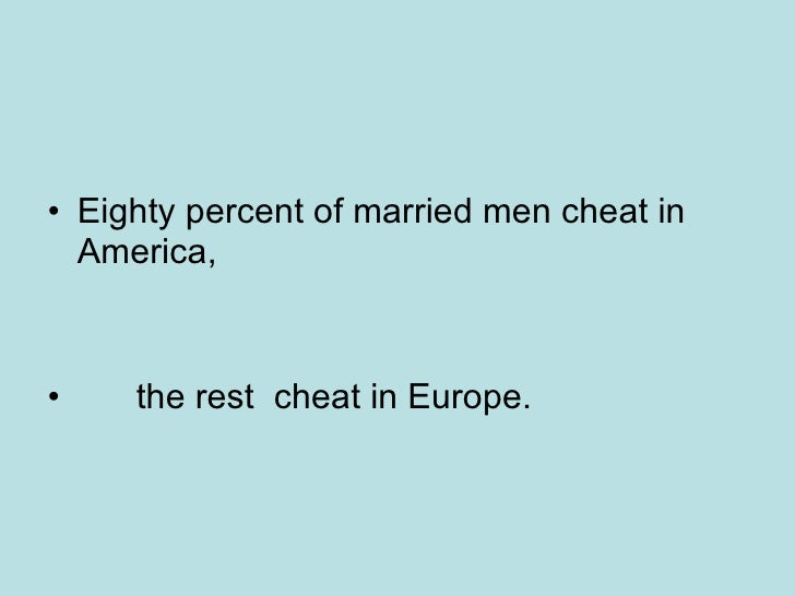 what percentage of married men cheat