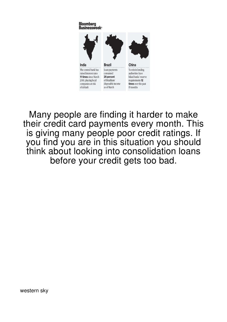 Many people are finding it harder to make their credit card payments every month. This  is giving many people poor credit ...