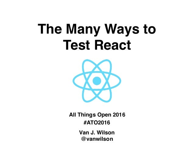 The Many Ways to 