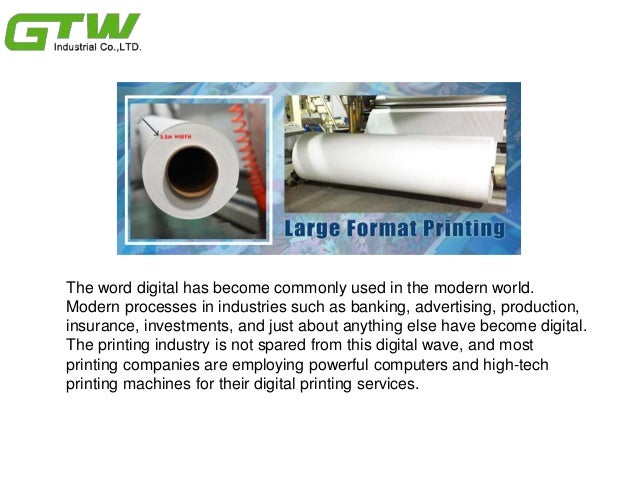 Many advantages to digital printing technology Slide 2