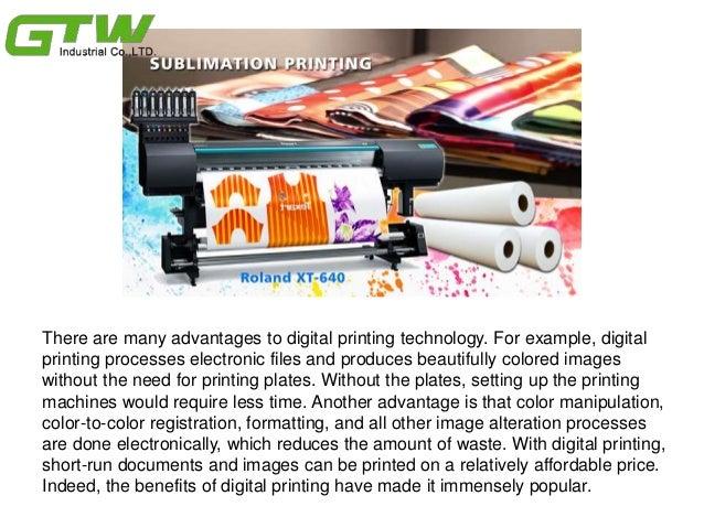 Many advantages to digital printing technology Slide 3