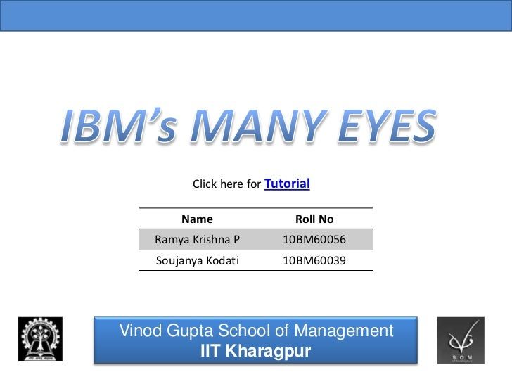 Vinod Gupta School of Management Indian Institute of Technology, Kharagpur            Click here for Tutorial          Nam...