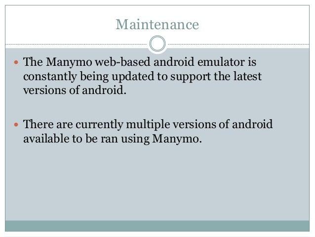 manymo android emulator website