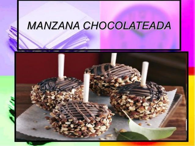 MANZANA CHOCOLATEADAMANZANA CHOCOLATEADA