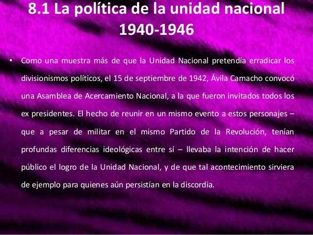 Unidad 8: México Contemporaneo 1940 Slide 2