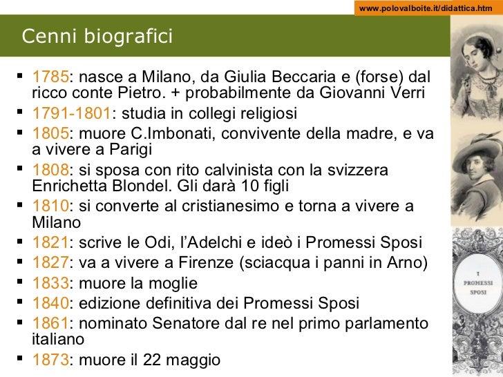 Alessandro Manzoni Slide 3