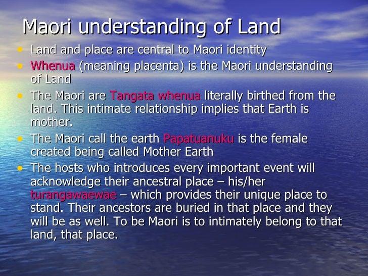maori relationship to the land