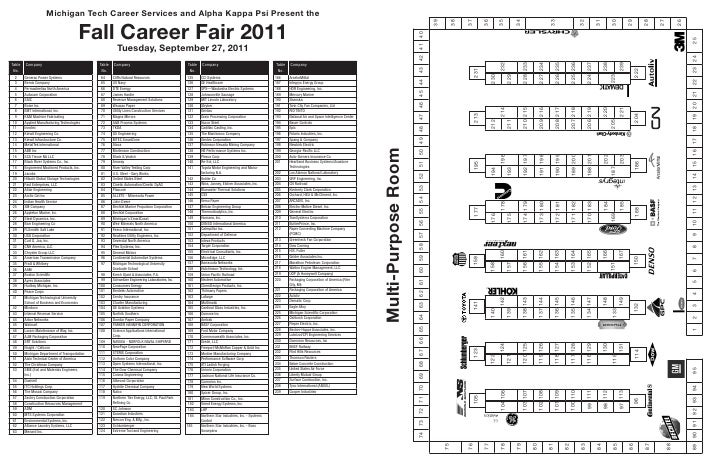 Michigan Tech Career Services and Alpha Kappa Psi Present the                                         Fall Career Fair 201...