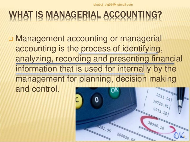 Differences between Financial accounting vs Managerial accounting