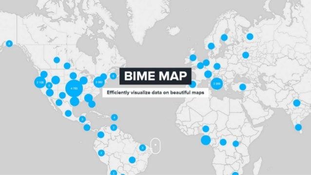 Efficíently vísualize data on beautiful maps