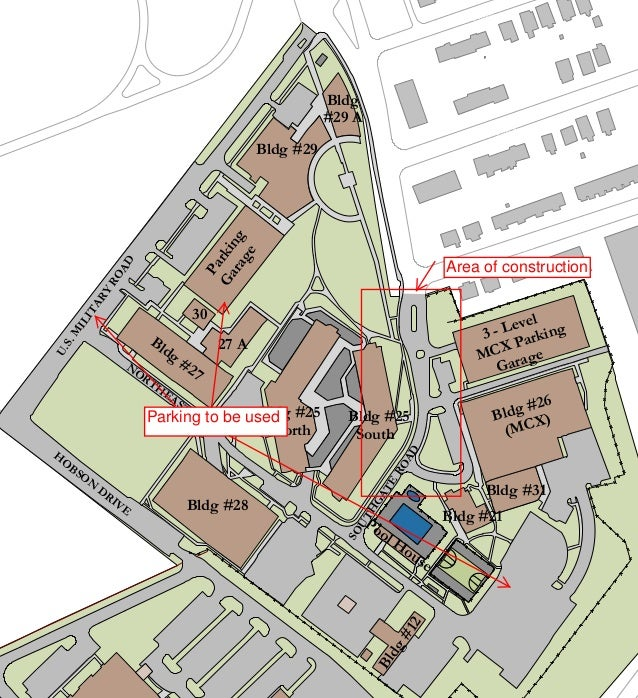 Construction Site Map: Map Of Henderson Hall's Southgate Road Construction