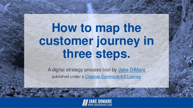 How to map the customer journey in three steps. A digital strategy process tool by Jake DiMare published under a Creative ...