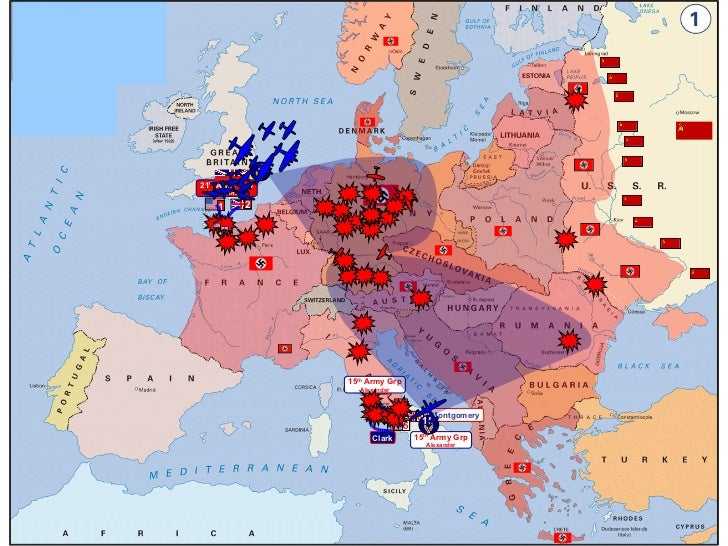 Map Of Wwii European Theater 1942 1945