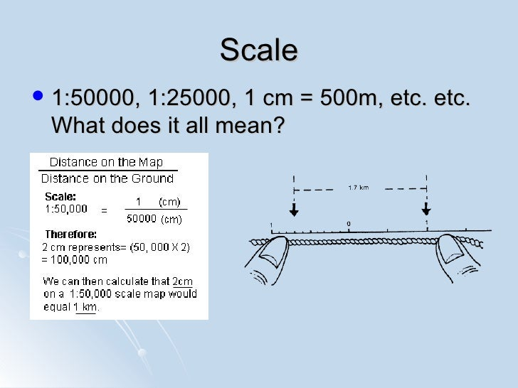 IGCSE Map Work Basics – Map Scales Worksheet