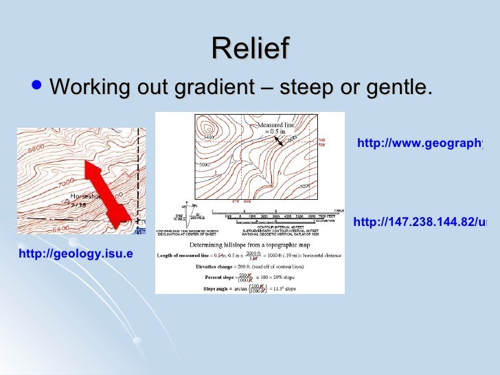 How To Calculate Relief On A Topographic Map.Igcse Map Work Basics