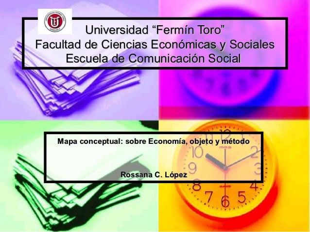 """Universidad """"Fermín Toro""""Facultad de Ciencias Económicas y Sociales     Escuela de Comunicación Social   Mapa conceptual: ..."""