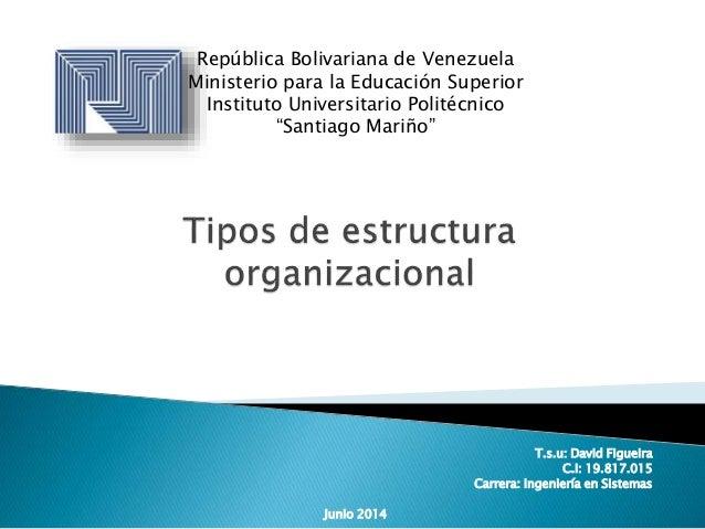 """República Bolivariana de Venezuela Ministerio para la Educación Superior Instituto Universitario Politécnico """"Santiago Mar..."""