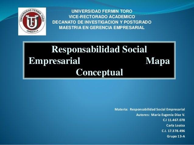UNIVERSIDAD FERMIN TORO  VICE-RECTORADO ACADEMICO  DECANATO DE INVESTIGACION Y POSTGRADO  MAESTRIA EN GERENCIA EMPRESARIAL...