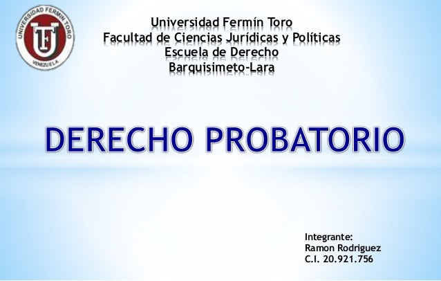 Universidad Fermín Toro Facultad de Ciencias Jurídicas y Políticas Escuela de Derecho Barquisimeto-Lara Integrante: Ramon ...