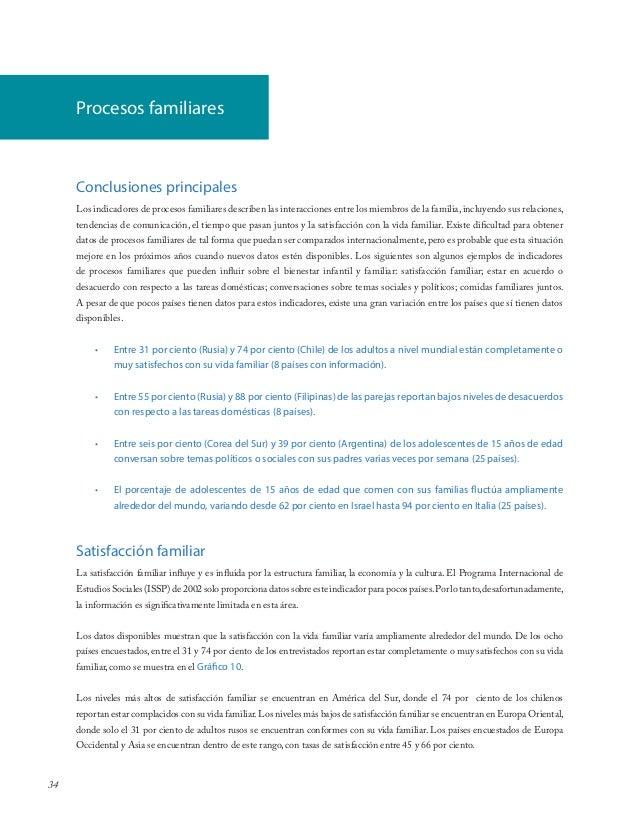 34Conclusiones principalesLos indicadores de procesos familiares describen las interacciones entre los miembros de la fami...
