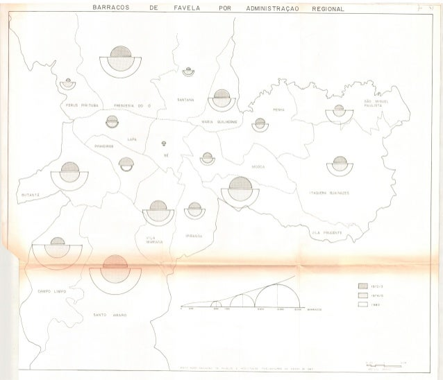 Mapa   barracos de favela por administração regional  (p.31)