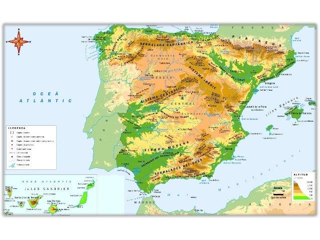 Mapa físic península ibèrica