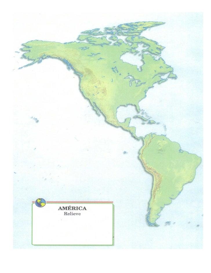 Mapa Mudo De America.Mapa Mudo America Relieve