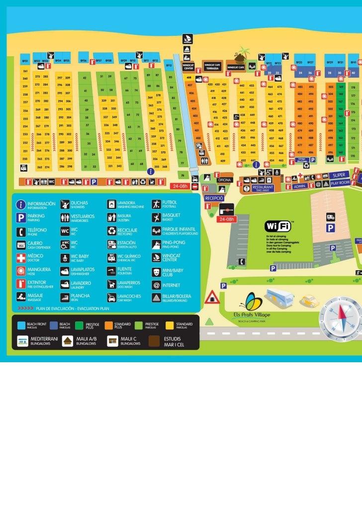 Mapa camping els prats