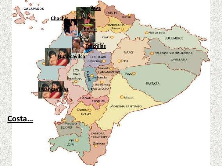 ubicacion mapa etnias ecuador