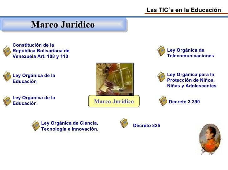 Las TIC´s en la Educación         Marco Jurídico Constitución de la República Bolivariana de                              ...