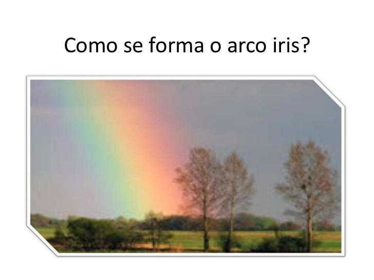 Como se forma o arco iris?