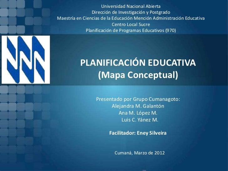 Universidad Nacional Abierta                Dirección de Investigación y PostgradoMaestría en Ciencias de la Educación Men...