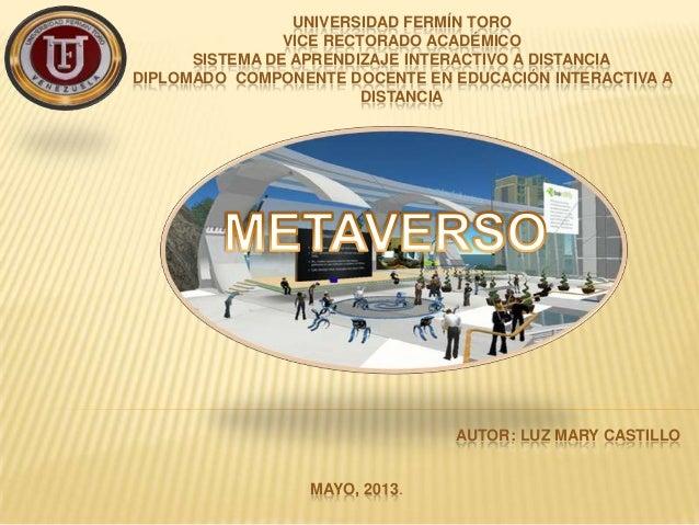 UNIVERSIDAD FERMÍN TOROVICE RECTORADO ACADÉMICOSISTEMA DE APRENDIZAJE INTERACTIVO A DISTANCIADIPLOMADO COMPONENTE DOCENTE ...
