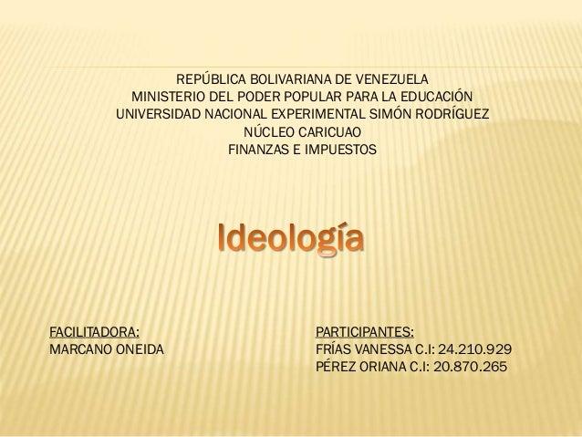 REPÚBLICA BOLIVARIANA DE VENEZUELA MINISTERIO DEL PODER POPULAR PARA LA EDUCACIÓN UNIVERSIDAD NACIONAL EXPERIMENTAL SIMÓN ...