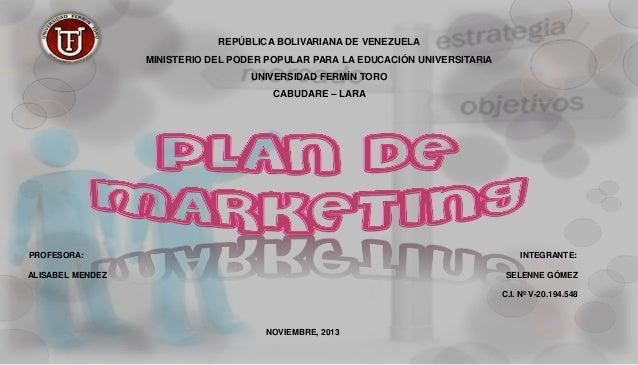 REPÚBLICA BOLIVARIANA DE VENEZUELA MINISTERIO DEL PODER POPULAR PARA LA EDUCACIÓN UNIVERSITARIA  UNIVERSIDAD FERMÍN TORO C...