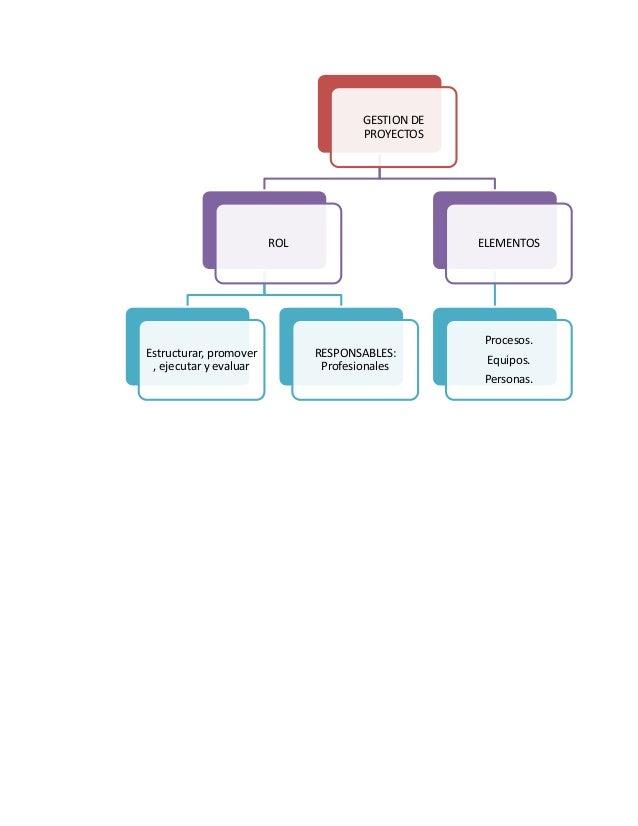 GESTION DE PROYECTOS  ROL  Estructurar, promover , ejecutar y evaluar  ELEMENTOS  RESPONSABLES: Profesionales  Procesos. E...