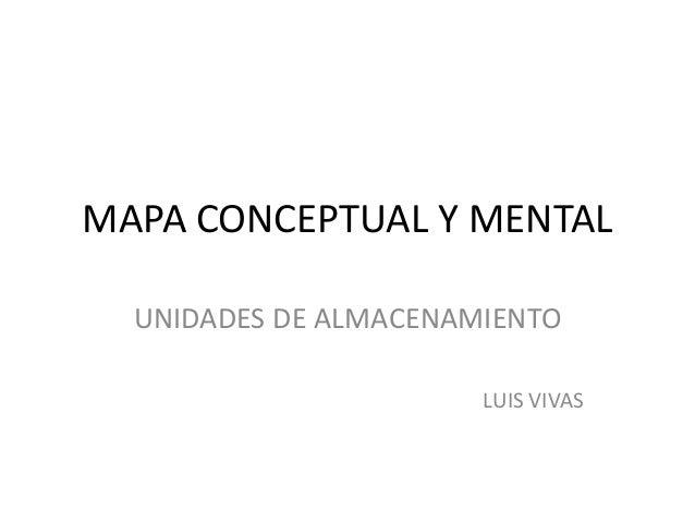MAPA CONCEPTUAL Y MENTAL UNIDADES DE ALMACENAMIENTO LUIS VIVAS