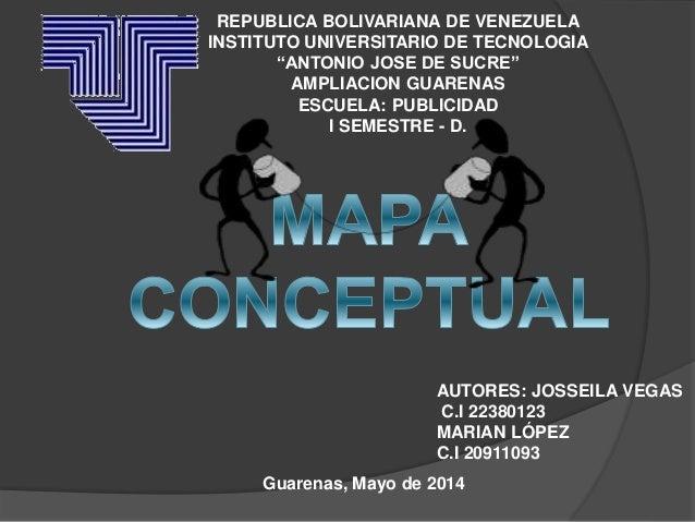 """REPUBLICA BOLIVARIANA DE VENEZUELA INSTITUTO UNIVERSITARIO DE TECNOLOGIA """"ANTONIO JOSE DE SUCRE"""" AMPLIACION GUARENAS ESCUE..."""