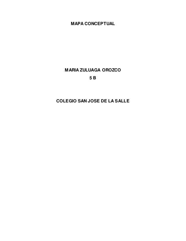 MAPA CONCEPTUAL MARIA ZULUAGA OROZCO 5 B COLEGIO SAN JOSE DE LA SALLE
