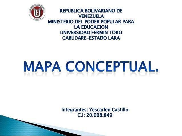 REPUBLICA BOLIVARIANO DE             VENEZUELAMINISTERIO DEL PODER POPULAR PARA           LA EDUCACION     UNIVERSIDAD FER...