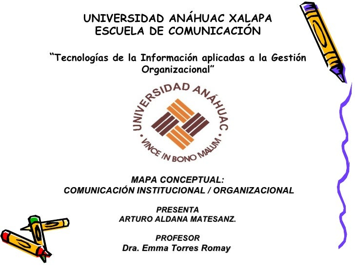 """UNIVERSIDAD ANÁHUAC XALAPA ESCUELA DE COMUNICACIÓN """" Tecnologías de la Información aplicadas a la Gestión Organizacional """"..."""