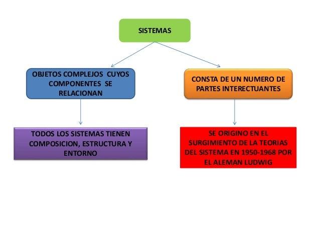 SISTEMAS OBJETOS COMPLEJOS CUYOS COMPONENTES SE RELACIONAN TODOS LOS SISTEMAS TIENEN COMPOSICION, ESTRUCTURA Y ENTORNO CON...