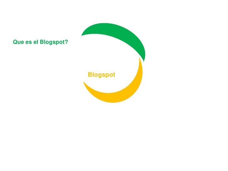 Que es el Blogspot?<br />Blogspot<br />