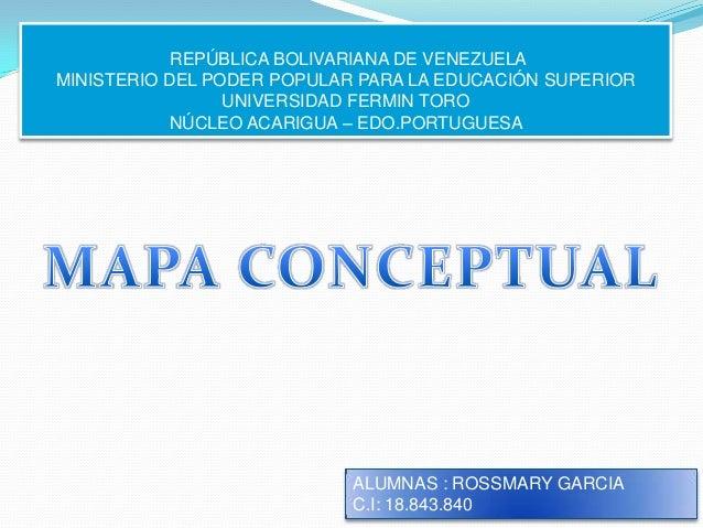 REPÚBLICA BOLIVARIANA DE VENEZUELAMINISTERIO DEL PODER POPULAR PARA LA EDUCACIÓN SUPERIOR                 UNIVERSIDAD FERM...
