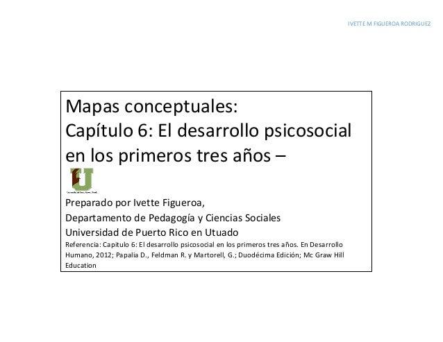 IVETTE M FIGUEROA RODRIGUEZ Mapas conceptuales: Capítulo 6: El desarrollo psicosocial en los primeros tres años – Preparad...