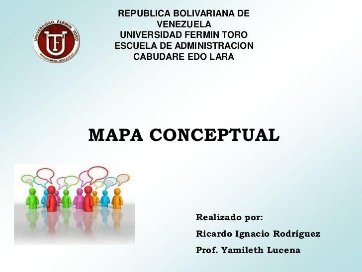REPUBLICA BOLIVARIANA DE          VENEZUELA   UNIVERSIDAD FERMIN TORO  ESCUELA DE ADMINISTRACION     CABUDARE EDO LARAMAPA...