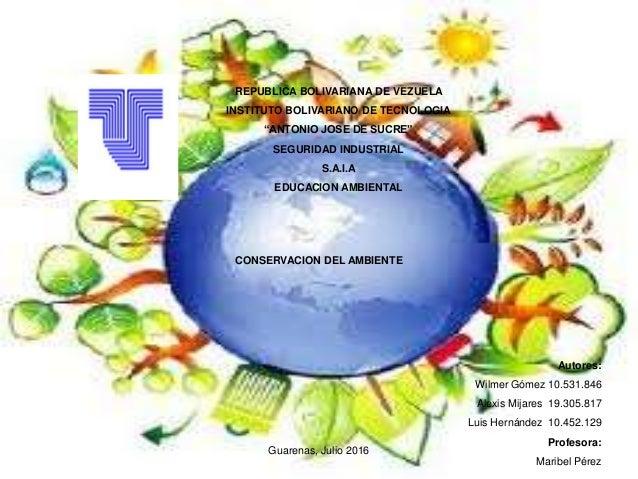 """REPUBLICA BOLIVARIANA DE VEZUELA INSTITUTO BOLIVARIANO DE TECNOLOGIA """"ANTONIO JOSE DE SUCRE"""" SEGURIDAD INDUSTRIAL S.A.I.A ..."""