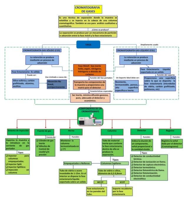 Mapa conceptual cromatografia de gases